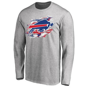 Men's Buffalo Bills NFL Pro Line Ash True Colors Long Sleeve T-Shirt