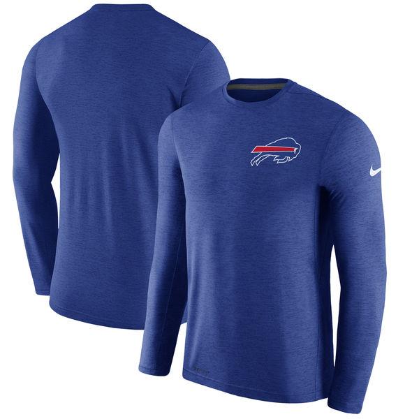 Men's Buffalo Bills Nike Royal Coaches Long Sleeve Performance T-Shirt