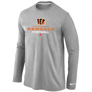 Nike Cincinnati Bengals Critical Victory Long Sleeve T-Shirt Grey