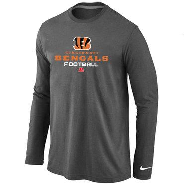 Nike Cincinnati Bengals Critical Victory Long Sleeve T-Shirt D.Grey
