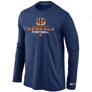 Nike Cincinnati Bengals Critical Victory Long Sleeve T-Shirt D.Blue