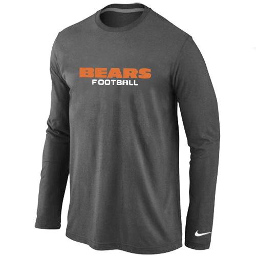 Nike Cincinnati Bengals Authentic font Long Sleeve T-Shirt D.Grey