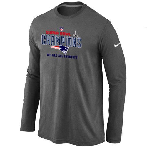 Nike New England Patriots Majestic D.Grey Super Bowl XLIX Long Sleeve T-Shirts