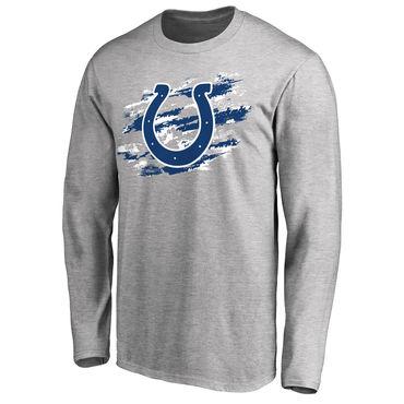 Men's Indianapolis Colts NFL Pro Line Ash True Colors Long Sleeve T-Shirt