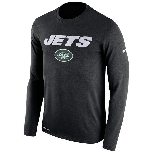 New York Jets Nike Legend Essential Lock Up Performance Long Sleeve T-Shirt Black