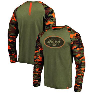 New York Jets Heathered Gray Camo NFL Pro Line by Fanatics Branded Long Sleeve T-Shirt