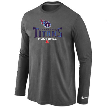 Nike Tennessee Titans Critical Victory Long Sleeve T-Shirt D,Grey