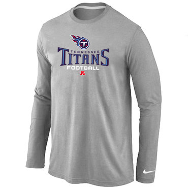 Nike Tennessee Titans Critical Victory Long Sleeve T-Shirt Grey