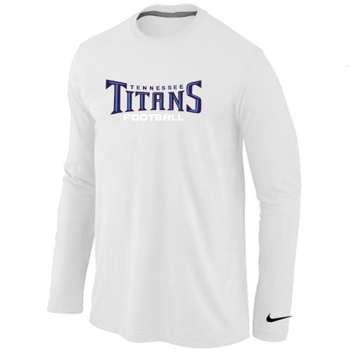 Nike Tennessee Titans Authentic font Long Sleeve T-Shirt White