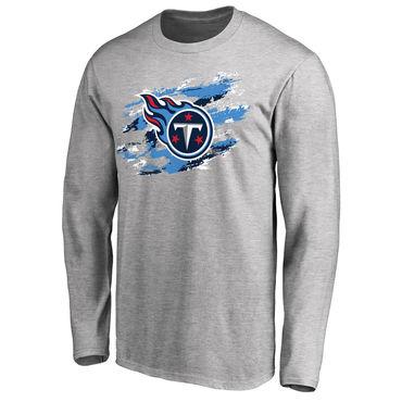 Men's Tennessee Titans NFL Pro Line Ash True Colors Long Sleeve T-Shirt