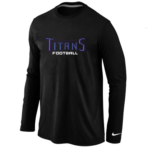 Nike Tennessee Titans Authentic font Long Sleeve T-Shirt Black