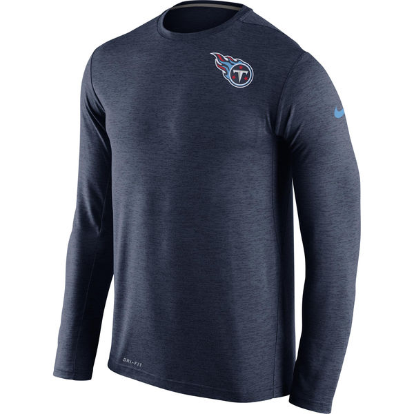 Nike Tennessee Titans Navy Dri-Fit Touch Long Sleeve Performance Men's T-Shirt