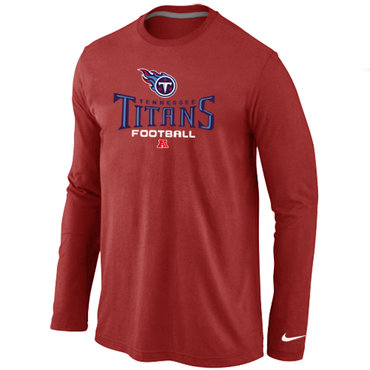 Nike Tennessee Titans Critical Victory Long Sleeve T-Shirt RED