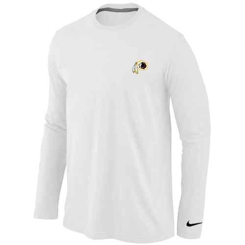 Washington Redskins Sideline Legend Authentic Long Sleeve T-Shirt Logo White