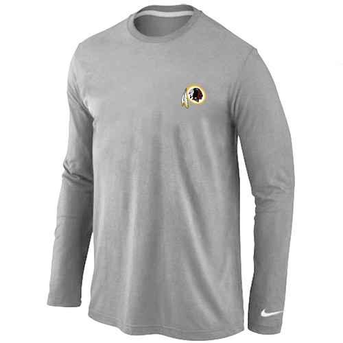 Washington Redskins Sideline Legend Authentic Logo Long Sleeve T-Shirt Grey