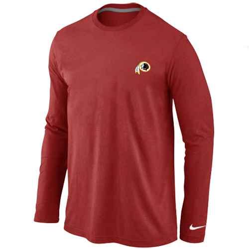 Washington Redskins Sideline Legend Authentic Logo Long Sleeve T-Shirt Red