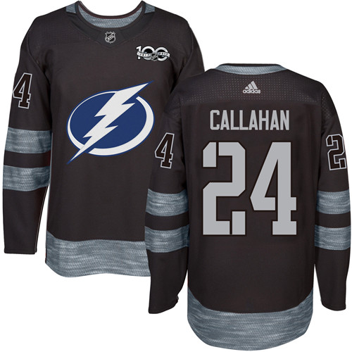 Adidas Lightning #24 Ryan Callahan Black 1917-2017 100th Anniversary Stitched NHL Jersey
