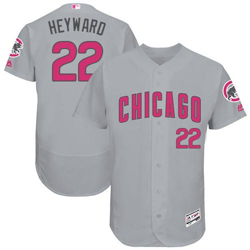 Chicago Cubs #22 Jason Heyward Grey Flexbase Authentic Collection Mother's Day Stitched MLB Jersey