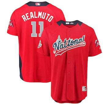 Men's National League #11 JT Realmuto Majestic Red 2018 MLB All-Star Game Home Run Derby Player Jersey