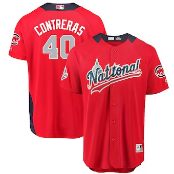 Men's National League #40 Willson Contreras Majestic Red 2018 MLB All-Star Game Home Run Derby Player Jersey