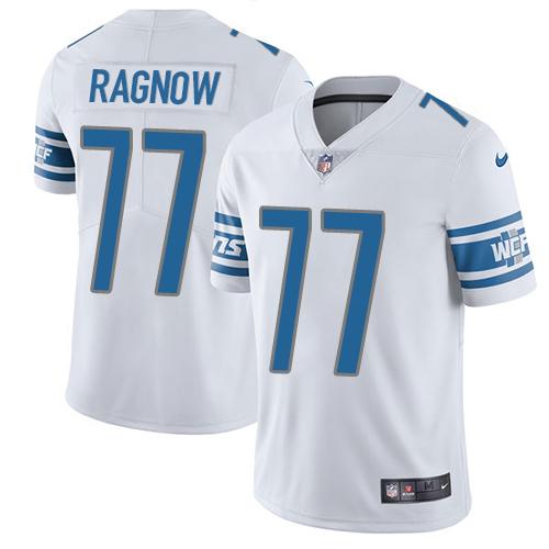 Nike Detroit Lions #77 Frank Ragnow White Men's Stitched NFL Vapor Untouchable Limited Jersey