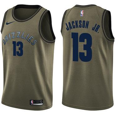 Nike Memphis Grizzlies #13 Jaren Jackson Jr. Green NBA Swingman Salute to Service Jersey