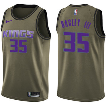 Nike Sacramento Kings #35 Marvin Bagley III Green NBA Swingman Salute to Service Jersey