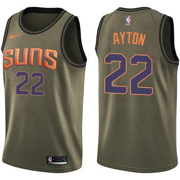 Nike Phoenix Suns #22 Deandre Ayton Green NBA Swingman Salute to Service Jersey