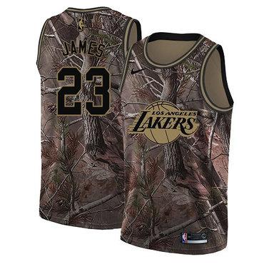 Women's Nike Los Angeles Lakers #23 LeBron James Camo NBA Swingman Realtree Collection Jersey