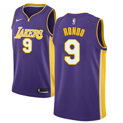 Women's Nike Los Angeles Lakers #9 Rajon Rondo Purple NBA Swingman Statement Edition Jersey