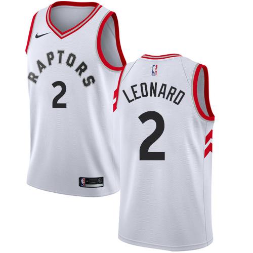 Women's Nike Toronto Raptors #2 Kawhi Leonard White NBA Swingman Association Edition Jersey