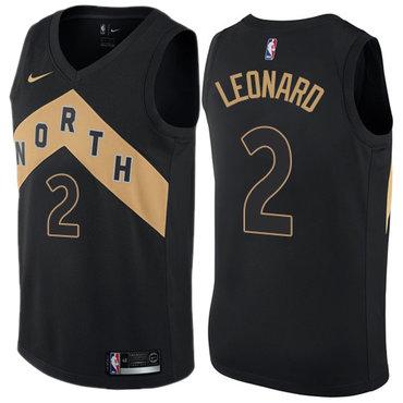 Women's Nike Toronto Raptors #2 Kawhi Leonard Black NBA Swingman City Edition Jersey