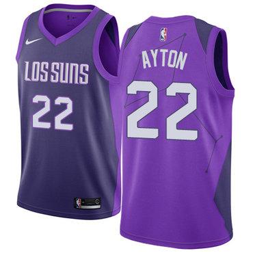 Women's Nike Phoenix Suns #22 Deandre Ayton Purple NBA Swingman City Edition Jersey