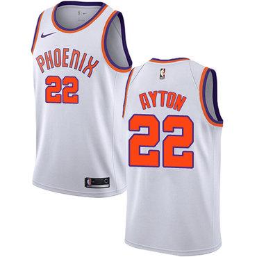 Women's Nike Phoenix Suns #22 Deandre Ayton White NBA Swingman Association Edition Jersey