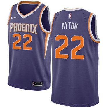 Women's Nike Phoenix Suns #22 Deandre Ayton Purple NBA Swingman Icon Edition Jersey