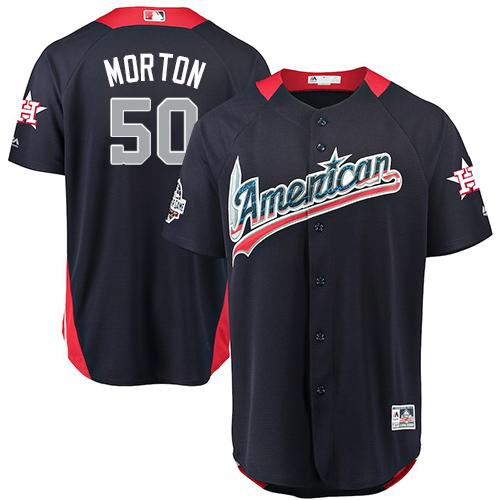 Astros #50 Charlie Morton Navy Blue 2018 All-Star American League Stitched Baseball Jersey