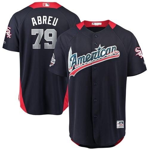 White Sox #79 Jose Abreu Navy Blue 2018 All-Star American League Stitched Baseball Jerseys