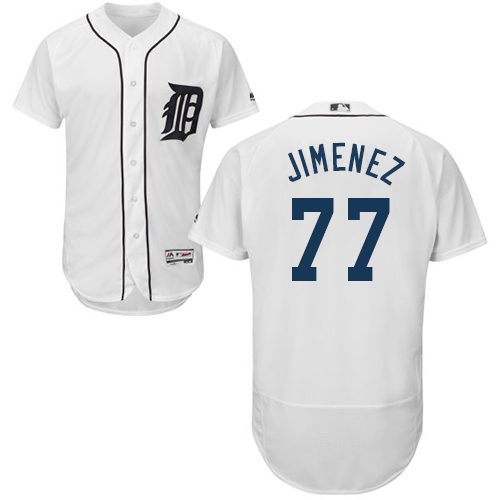 Detroit Tigers #77 Joe Jimenez White Flexbase Authentic Collection Stitched Baseball Jersey