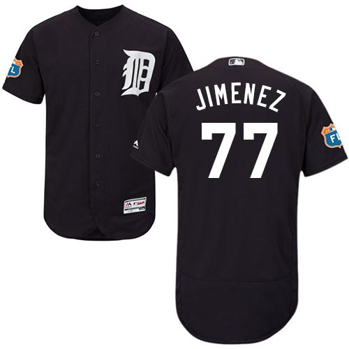 Detroit Tigers #77 Joe Jimenez Navy Blue Flexbase Authentic Collection Stitched Baseball Jersey