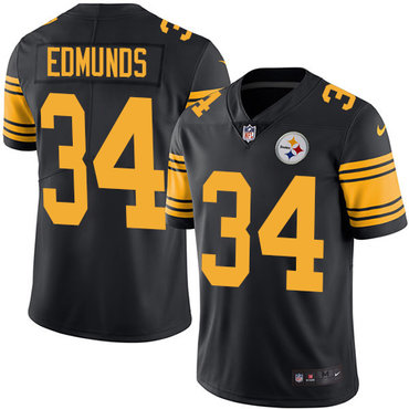 Nike Steelers #34 Terrell Edmunds Black Youth Stitched NFL Limited Rush Jersey