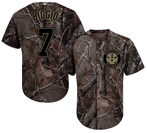 Houston Astros #7 Craig Biggio Camo Realtree Collection Cool Base Stitched MLB Jersey