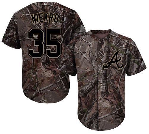 Atlanta Braves #35 Phil Niekro Camo Realtree Collection Cool Base Stitched MLB Jersey
