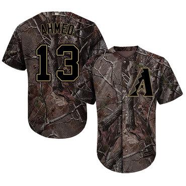 Arizona Diamondbacks #13 Nick Ahmed Camo Realtree Collection Cool Base Stitched MLB Jersey