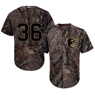 Baltimore Orioles #36 Caleb Joseph Camo Realtree Collection Cool Base Stitched MLB Jersey