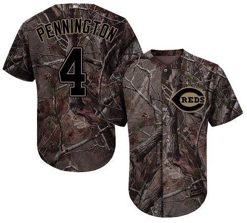 Cincinnati Reds #4 Cliff Pennington Camo Realtree Collection Cool Base Stitched MLB Jersey
