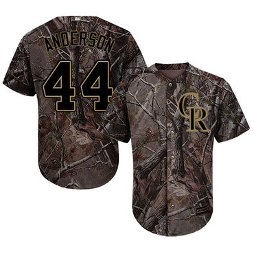 Colorado Rockies #44 Tyler Anderson Camo Realtree Collection Cool Base Stitched MLB Jersey