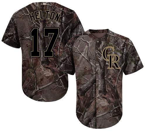 Colorado Rockies #17 Todd Helton Camo Realtree Collection Cool Base Stitched MLB Jersey