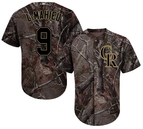 Colorado Rockies #9 DJ LeMahieu Camo Realtree Collection Cool Base Stitched MLB Jersey