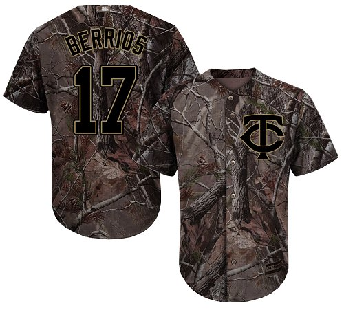 Minnesota Twins #17 Jose Berrios Camo Realtree Collection Cool Base Stitched MLB Jersey