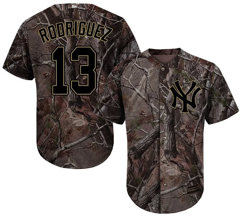 New York Yankees #13 Alex Rodriguez Camo Realtree Collection Cool Base Stitched MLB Jersey